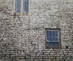 STONE WALL DERBYSHIRE, Still Life, Windows, City, Cobblestones, Grey, Neutral