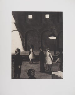 At the Railway Station - Original Handsigned Etching - Limited 90 copies