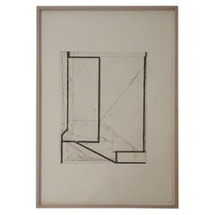 Richard Diebenkorn Litho/Etching Pencil Signed/Dated, Softground Splay, Framed