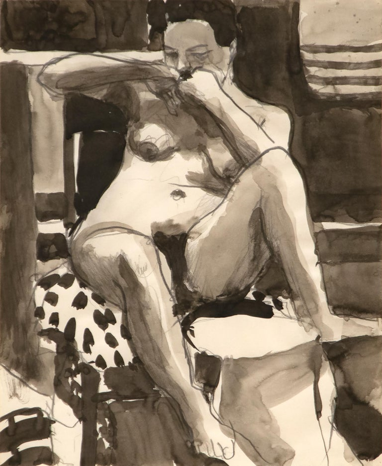 Richard Diebenkorn Nude Painting - Untitled
