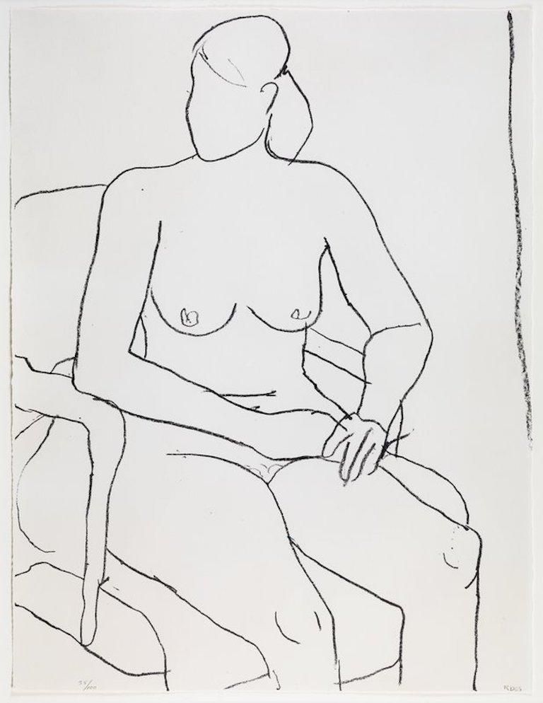 Richard Diebenkorn 'Seated Nude' Limited Edition, Signed Print