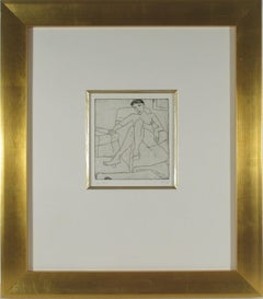 """""""Seated Female Nude #34"""" from the suite """"41 Etchings and Drypoints"""""""