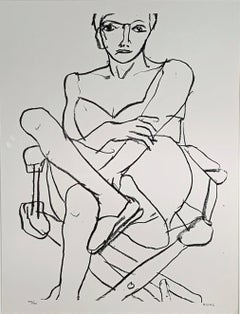 SEATED NUDE IN A CHEMISE