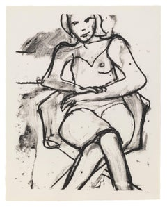 Seated Woman with Hands Crossed