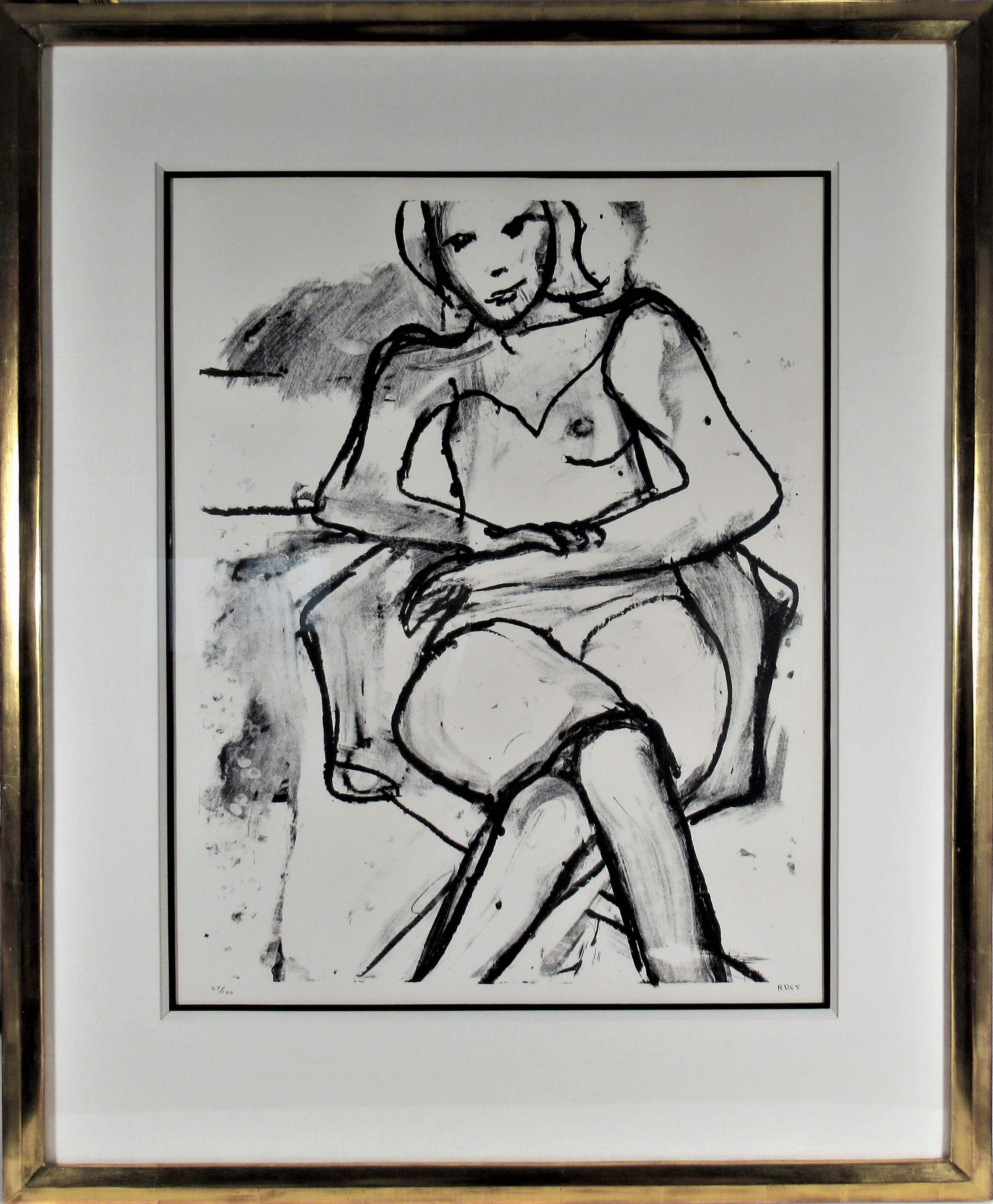 Seated Woman (With Legs and Arms Crossed)