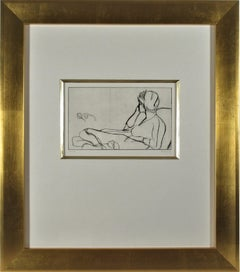 """""""The Artist's Wife, Phyllis #1"""" from the suite """"41 Etchings and Drypoints"""""""