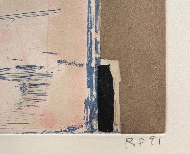 Touched Red - Post-War Print by Richard Diebenkorn