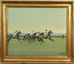 Before the Start - A horse racing scene
