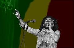 Bob Marley  - Colorized Background 1974