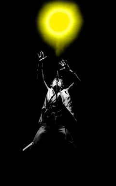 Bruce Springsteen 1980 Colorized Concert Light on Hahnemuehle Paper