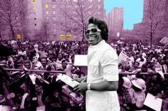 James Brown in Harlem - 1975 Colorized Photo