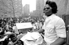 James Brown in Harlem Signing Autographs