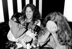 Lynyrd Skynyrd with Roller Skating Monkey with Jack - Black and White