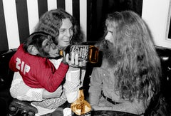Lynyrd Skynyrd's Allen Collins with Roller Skating Monkey with Jack Colorized
