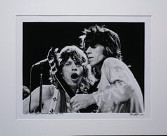 Mick and Keith 1972 at the Microphone