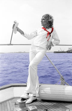 Rod Stewart - On a Boat on Hahnemuehle paper