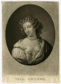 Nell Gwynne - Portrait of Nell Gwyn. Actress and mistress to Charles II.