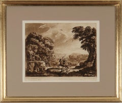 Richard Earlom: Mezzotint Engravings After Claude Lorrain, c1777, Framed