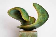 Reclining Form, Large Interior or Exterior Bronze Scultpure on Bronze Pedestal