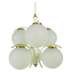 Richard Essig White Space Age Chandelier, circa 1970s