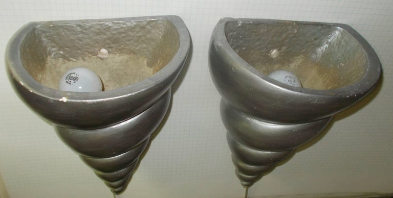 Late 20th Century Richard Etts Plaster Wall Sconces, 1977 For Sale