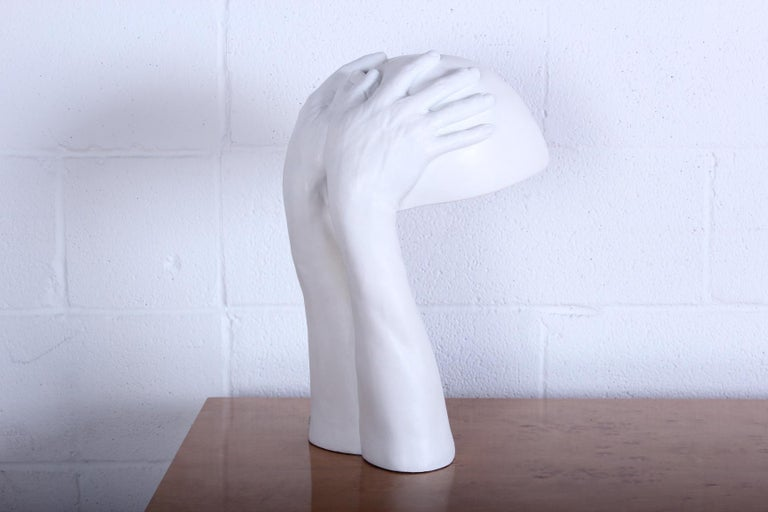 Plaster Richard Etts Table Lamp For Sale