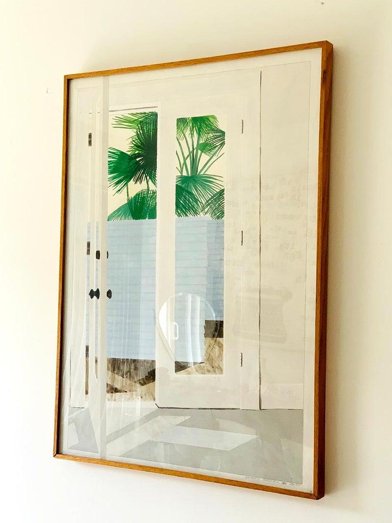 Richard Ewen (American, 20th Century), acrylic on paper,