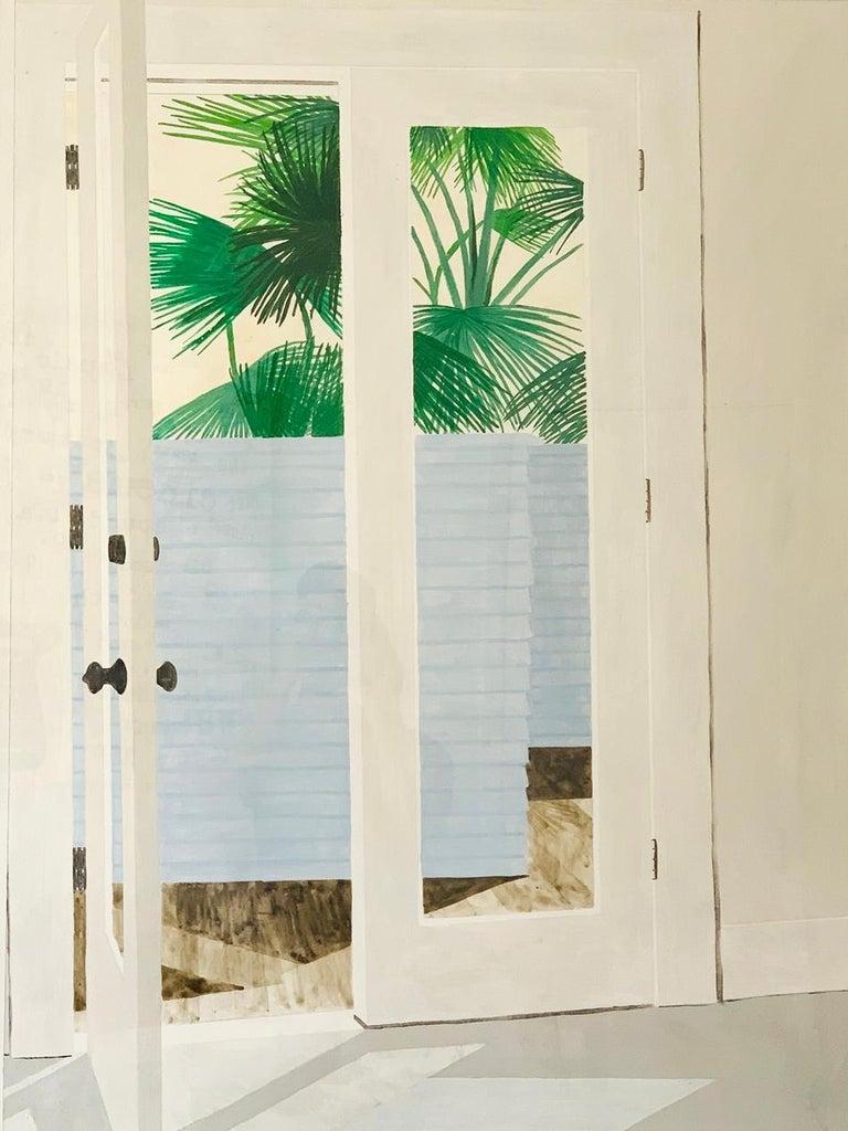 Minimalist Richard Ewen Watercolor on Paper,