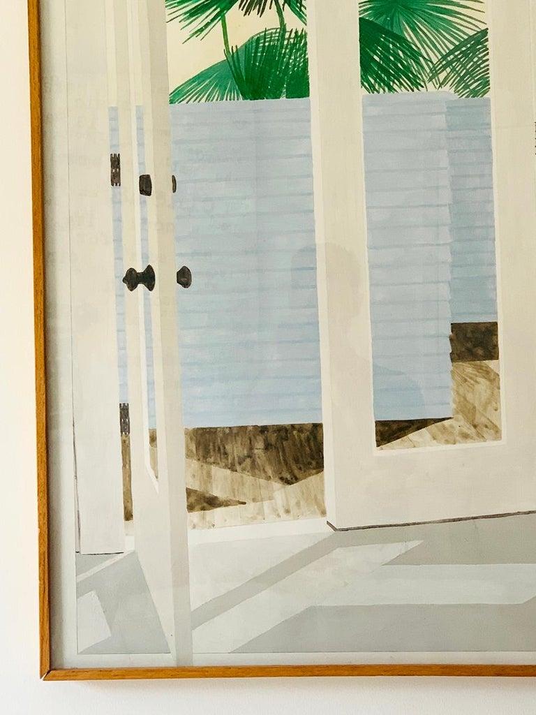 American Richard Ewen Watercolor on Paper,