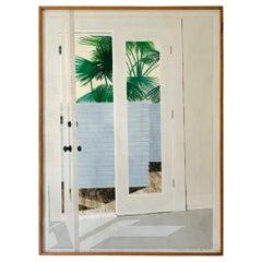 "Richard Ewen Watercolor on Paper, ""Sun Porch"""