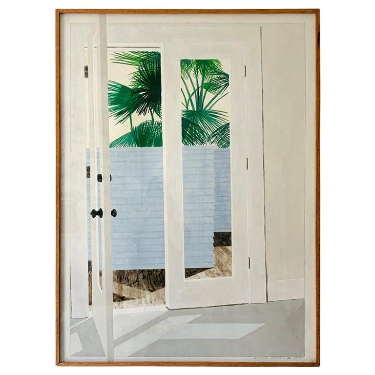 "Richard Ewen Watercolor on Paper, ""Sun Porch"" For Sale"