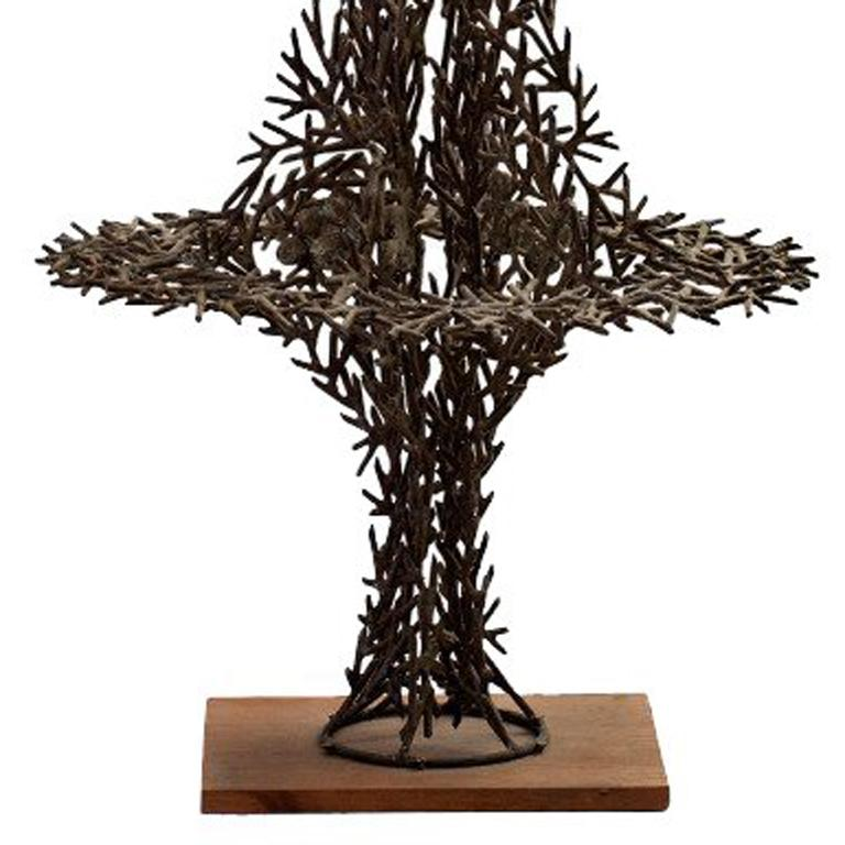 Sculpture in bronze and silver by Richard Filipowski, ca. 1960-1965 For Sale 2