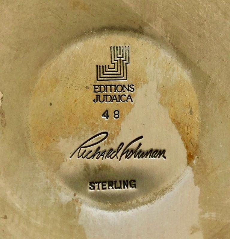Sterling Silver Gilt Kiddush Cup Lidded Sculpture, Artist Designed Fine Judaica For Sale 3