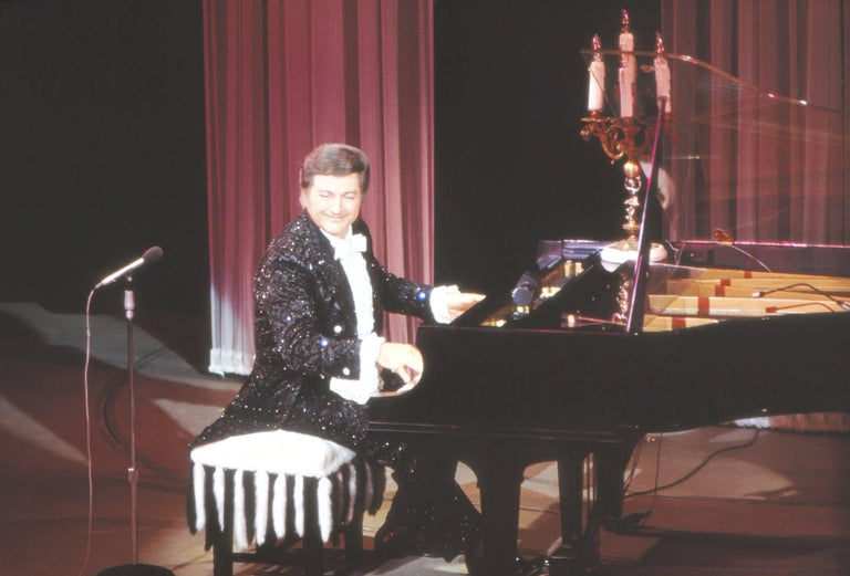 Richard Fitzgerald Color Photograph - Liberace Performing Fine Art Print
