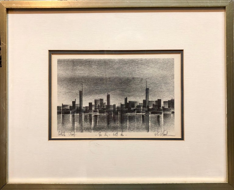 Genre: Other Subject: Landscape Medium: lithograph Surface: Canvas Country: United States Dimensions with Frame: 12.75 X 15.75  The artist Richard Florsheim depicts a Seascape using local colors, emphasizing on perspective, and the desolate marine