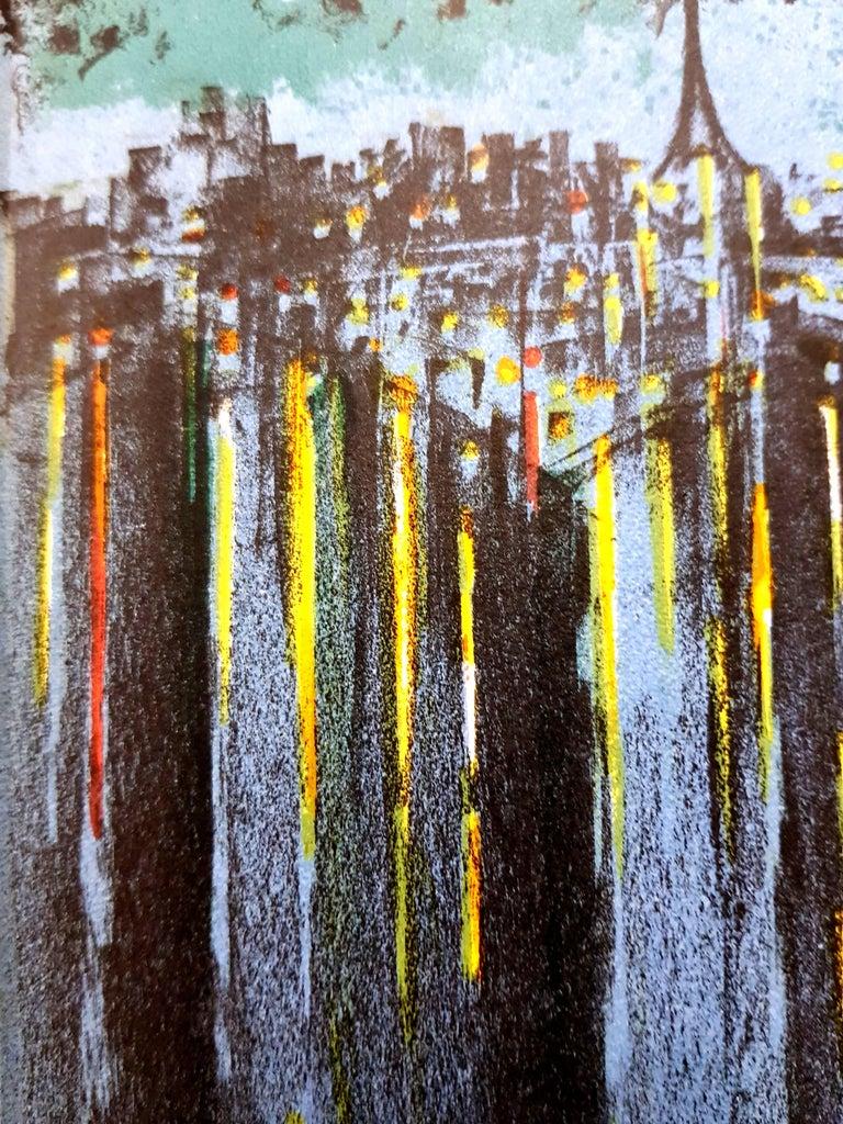 Richard Florsheim - Paris Seine - Original Lithograph  1964 Dimensions: 30 x 20 cm Edition of 200 (one of the 200 on Vélin de Rives) Mourlot Press, 1964  Biography   Richard Aberle Florsheim was born into a wealthy family on October 25, 1916, in