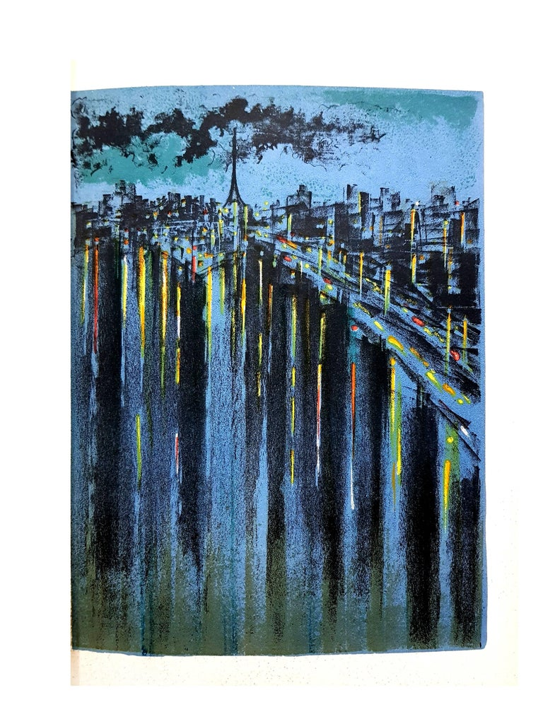 Richard Florsheim - Paris Seine - Original Lithograph  For Sale 3