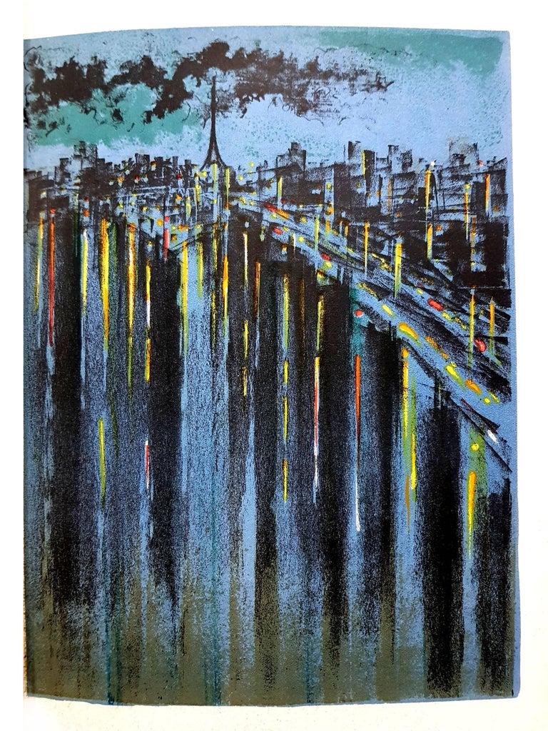 Richard Florsheim - Paris Seine - Original Lithograph  - Print by Richard Florsheim