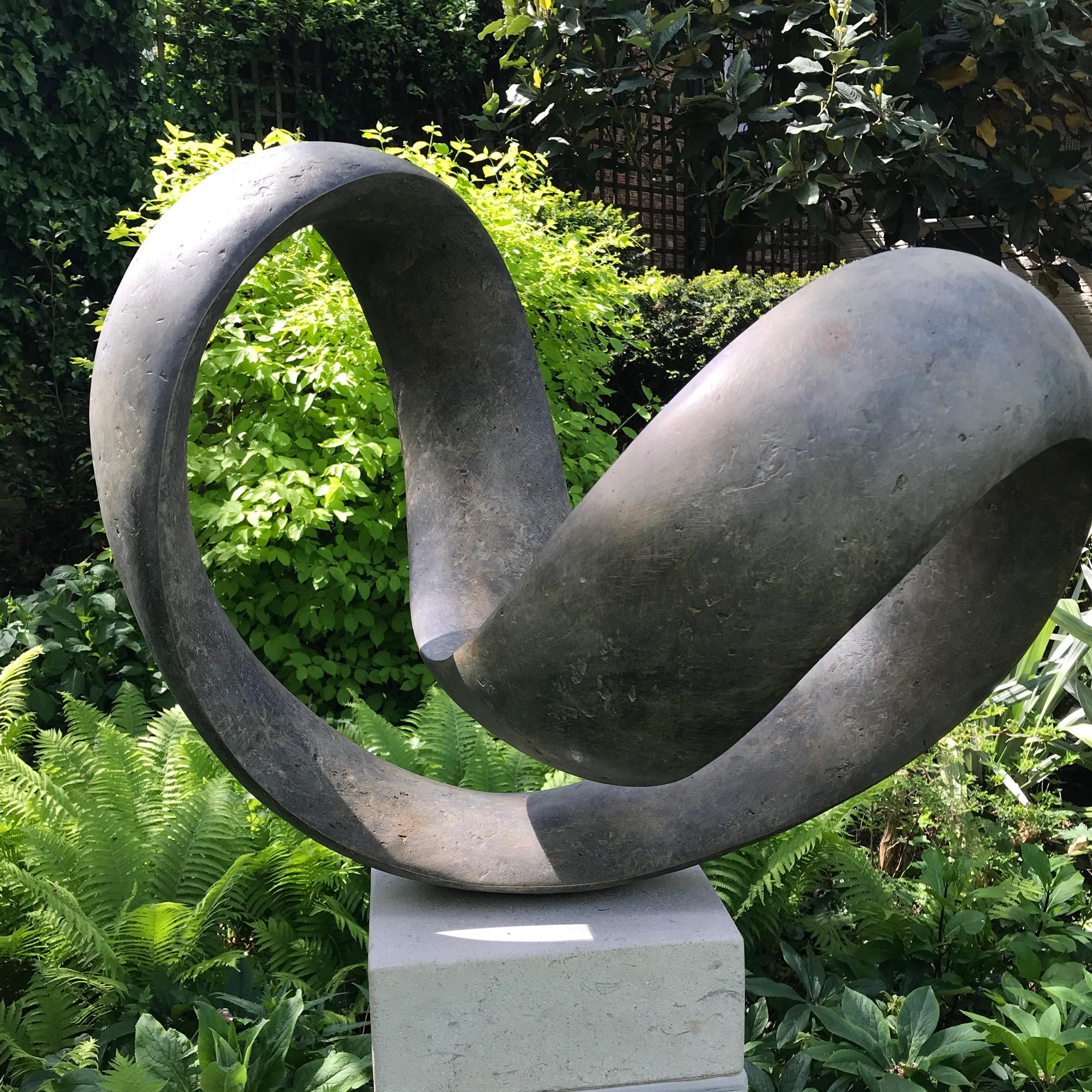 Richard Fox, Bronze Ravel VII, abstract sculpture