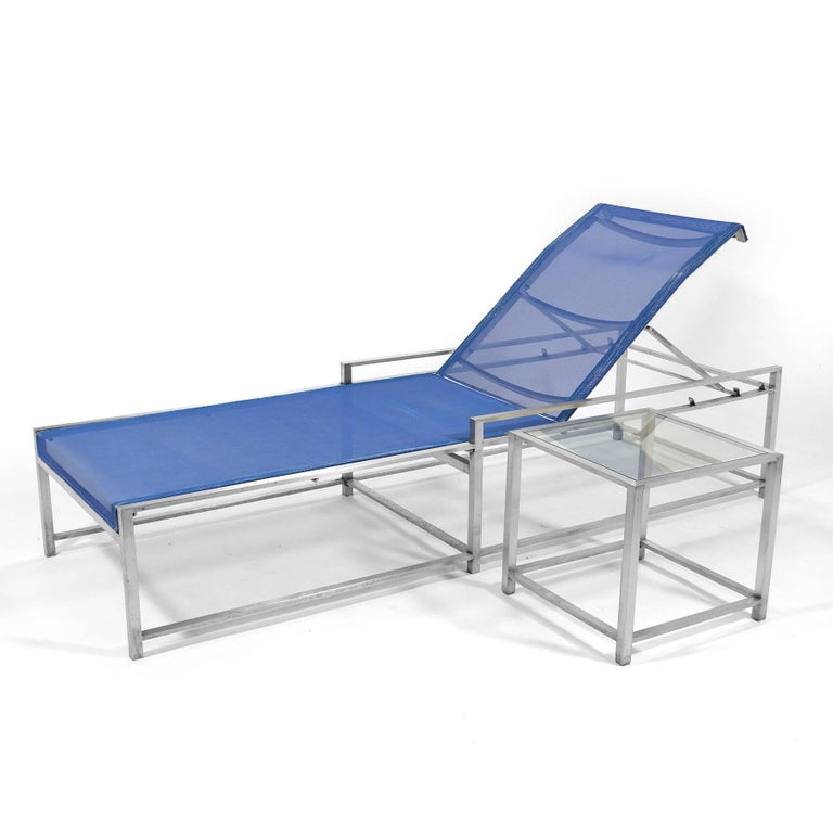 Richard Frinier Pair of Chaise Lounges by Brown Jordan In Good Condition For Sale In Highland, IN