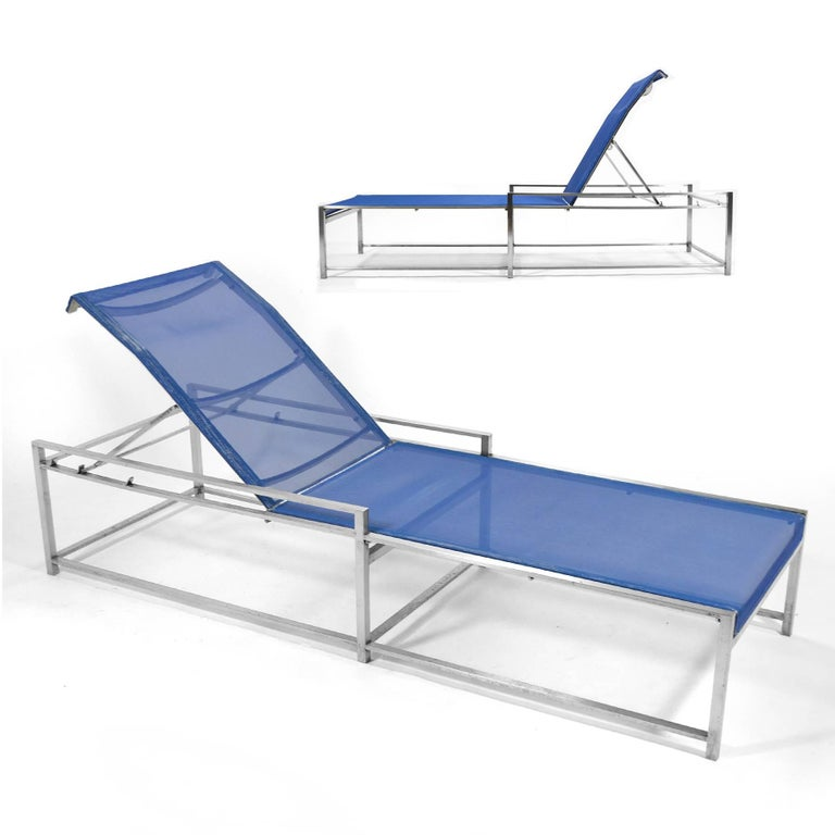Richard Frinier Pair of Chaise Lounges by Brown Jordan For Sale 1