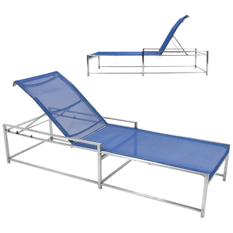 Richard Frinier Pair of Chaise Lounges by Brown Jordan For Sale