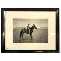 "Richard Gere Limited Edition Silver Gelatin Print ""Mongolian Warrior, Mongolia"""