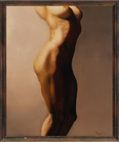 For Martha - Original Oil Painting of Nude Female Side in Warm Skin Tones