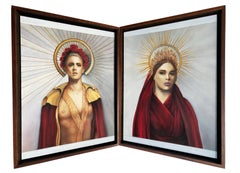 Jason and Medea - Greek Mythological Couple Inspired Diptych of Love and Tragedy