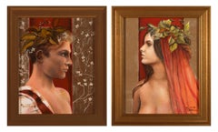 Return to Eden and Innocence - Young Male and Female Portrait Diptych