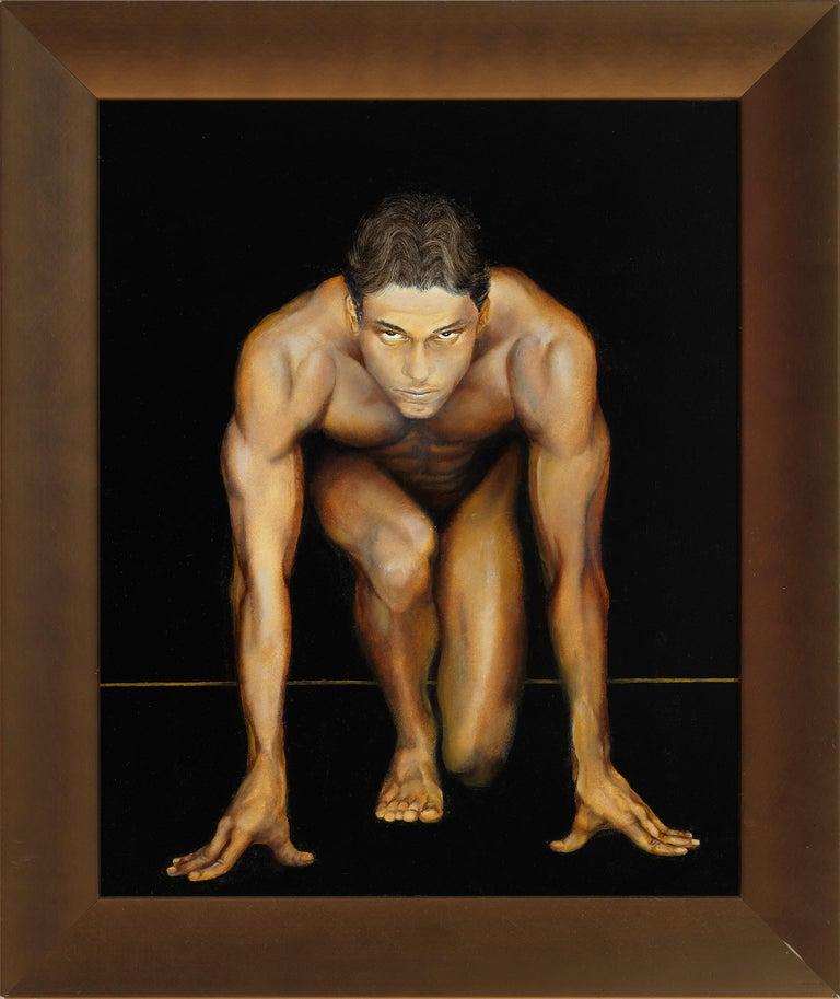 Richard Gibbons Nude Painting - Sprint I