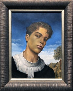 Youth, Portrait of Young Male, Renaissance Style Portraiture, Original Oil