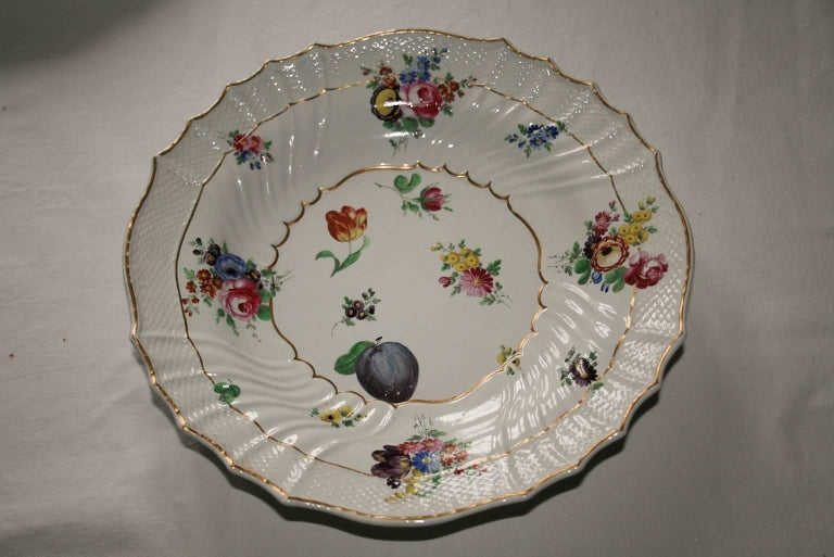 Italian Italy Richard Ginori Mid-18th Century Porcelain Set 8 Dishes Floral Design For Sale