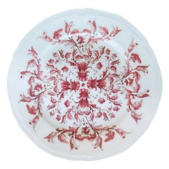 Richard Ginori Babele Rosso Red Bread Plate